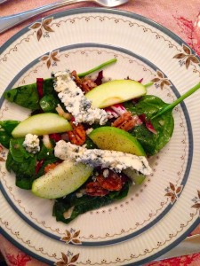 spinach & blue cheese salad